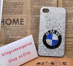 BMW clear crystal rhinestones cell phone case by BlingCaseSupplies, $28.00