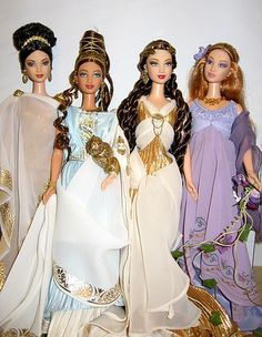 Classical Goddess Collection Barbie Dolls 2000 and Princess of Ancient Greece Barbie Doll 2004
