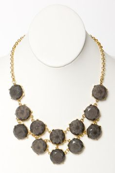 Greystone Statement Necklace from A Thread