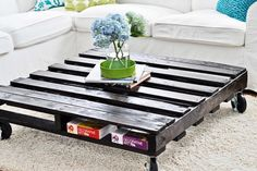 Coffee Table from Old Wooden Pallets Ideas 1 600x401 Coffee Table from Old Wooden Pallets Ideas