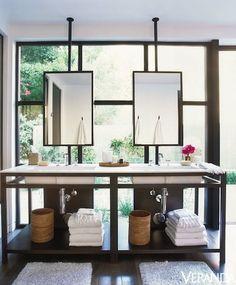 This Malibu bathroom celebrates a family's relaxed California lifestyle.