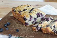 Blueberry Banana Bread, I had lots of blueberries and old bananas, so I googled this, and it turned out sooooo good, I like it more than regular banana bread!