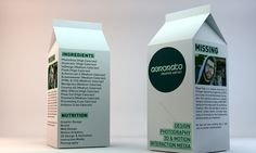 Graphic artist Miguel Rato decided to create a milk box CV when applying for jobs in advertising.
