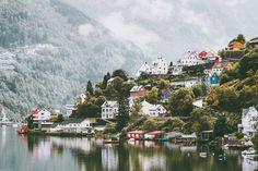 Odda city houses in Norway Landscap…
