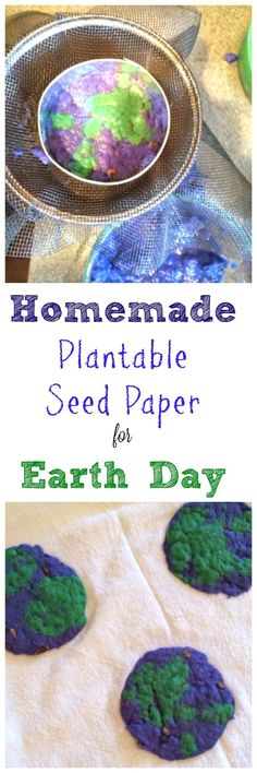 Did you know you can make your own, homemade plantable seed paper? What a way to celebrate Earth Day! Did you know you can make your own, homemade plantable seed paper? What a way to celebrate Earth Day!
