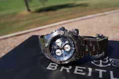 BREITLING EMERGENCY MISSION CHRONO PRO 2 BRACELET BLUE DIAL COMPLETE A73322 #Breitling