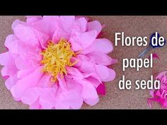 Como hacer Flores de papel de seda / Facil - YouTube