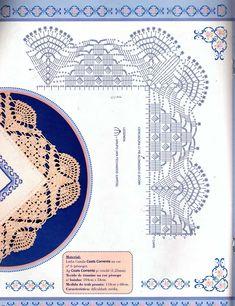 ru / Фото - 20 - geminiana Crochet Collar Pattern, Crochet Border Patterns, Crochet Boarders, Crochet Lace Edging, Doily Patterns, Crochet Chart, Thread Crochet, Crochet Patterns Amigurumi, Filet Crochet