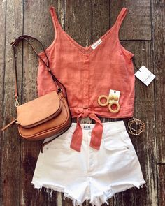casual summer outfits casual outfit ideas cute summer outfits trends for summer beach outfits outfit inspiration west coast cute crop tops denim shorts distressed denim shorts california style of july outfit ideas Summertime Outfits, Casual Summer Outfits, Short Outfits, Trendy Outfits, Cute Outfits, Fashion Outfits, Womens Fashion, Casual Beach Outfit, Petite Fashion