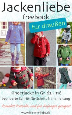 """Children& jacket """"Jackenliebe"""" (Freebook) - the outdoor jacket / Kinderjacke """"Jackenliebe"""" (Freebook)- die Draußenjacke / Walkjacke – Lila wie Liebe Freebook jacket love walk jacket, softshell jacket, outdoor jacket, free instructions - Back To School Outfits, Outfits For Teens, Sewing For Kids, Baby Sewing, Fashion Kids, Cheap Fashion, Textiles, Autumn Rockers, Walking Jackets"""