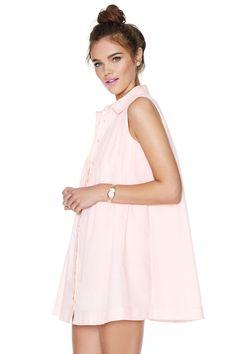 Making Me Blush Shirtdress - great, subtle color!