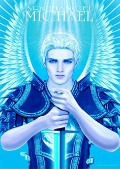 """ARCHANGEL MICHAEL (BLUE)  by Vectraits/Kyle Gray 2012  """"Archangel Michael, Heavenly Host, I am so thankful for your light and presence, I welcome your energy into my life at this time..."""""""