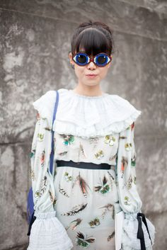 Serious sunnies spotted out and about at Paris Couture Week. [Photo: Kuba Dabrowski]