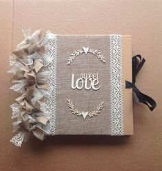 Rustic Vintage Wedding Sbook Al Guestbook Size 8 X Sweet Love