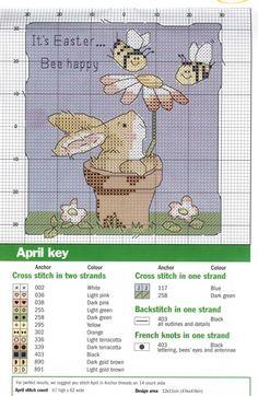 Gallery.ru / Фото #77 - Забавные схемы - elena-555 - It's Easter ... Bee Happy -- 2 of 2