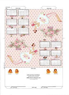 Art Tkanina Sal Rosa - Chitarte: biuro Kalendarz Tilda