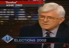 If any single day marks the fall of broadcast reporting, it's when Phil Donahue was banished in 2003 for telling the truth about the coming war in Iraq. - 2013/03/24