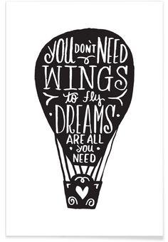 Hot Air Balloon als Premium Poster von Matthew Taylor Wilson   JUNIQE