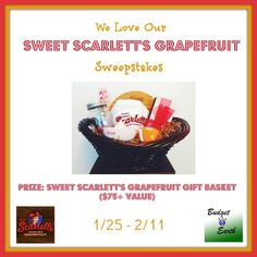 Looking for super sweet grapefruit that don't need sugar? See why we love Wonderful Sweet Scarletts Texas Red Grapefruit & enter to win a gift basket filled with over $75 in items!