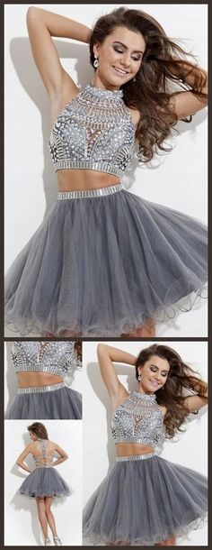 Short Homecoming Dresses Two piece Homecoming Dress