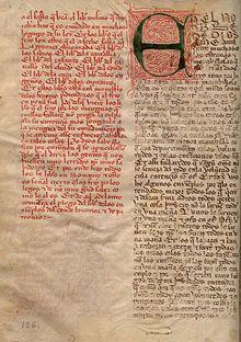 Este es uno los textos del conde lucanor, escrito en castellano antiguo