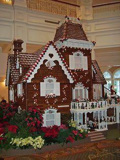 ginger bread house inside the grand!