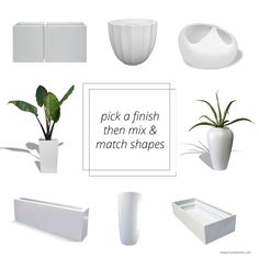 Jay Scotts planter line from NewPro Containers. Click to view dozens more styles and finishes. Wholesale.