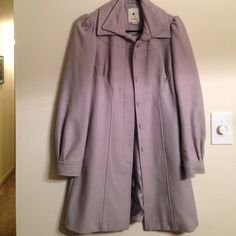 Sweet dove gray car coat from Anthro! Not 100% sure I'm ready to sell this beauty. Gorgeous details! Anthropologie Jackets & Coats