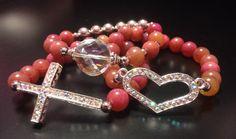 A personal favorite from my Etsy shop https://www.etsy.com/listing/172767014/sideways-cross-bracelet-crystal-cross