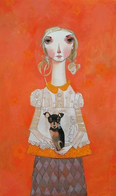 another Melissa Peck. Intrigued by the facial expression and subtle patterns.