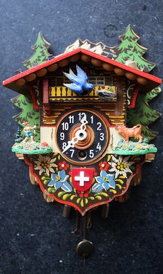 Swiss cuckoo clock, my grandparents had one of these in their home. I remember watching and waiting for the bird to come out. Wonderful memories! Would live to find one for my own home.
