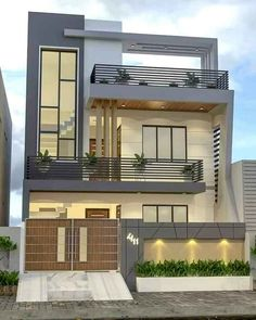 House Outer Design, Modern Small House Design, Modern Exterior House Designs, Latest House Designs, House Front Design, 3 Storey House Design, Bungalow House Design, Modern House Facades, Model House Plan