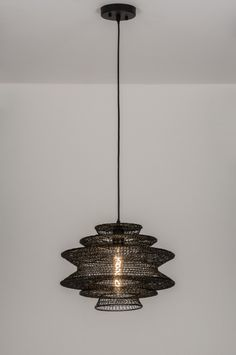 Klik voor de website op deze link : ( www.rietveldlicht.nl ) Verzendkosten gratis . Geschikt voor LED Bijzonder sfeervolle hanglamp / draadlamp voorzien van een open structuur. Deze opvallende hanglamp valt op door de bijzondere vormgeving en structuur. diameter: 37.00 cm . Ook in 62cm .  Voor woonkamer , tafel , keuken , slaapkamer .