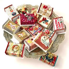 Little Slide Box / Myrtle's Studio Christmas 2015, Christmas Gifts, Holiday, Big Cartel, July Crafts, Secret Santa Gifts, Favor Boxes, Stocking Stuffers, Bright Colors