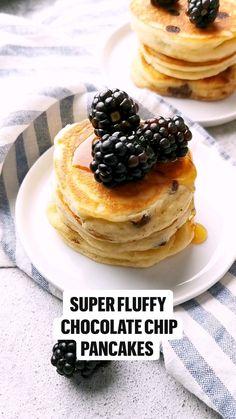 Yummy Pancake Recipe, Pancake Recipes, Fun Baking Recipes, Sweet Recipes, Dessert Recipes, Cooking Recipes, Desserts, Dairy Free Pancakes, Pancakes Easy