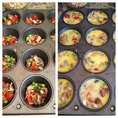 Muffin Tin Omelette... I made mine with ham. Delish!