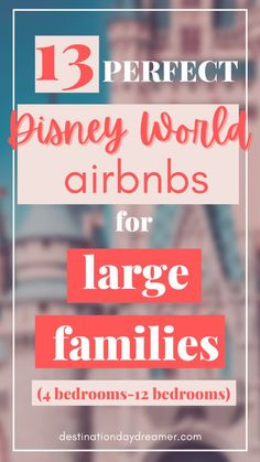 Here are the top 13 Airbnbs near Disney World for large families! Book one of these amazing rental homes near Walt Disney World for your Disney trip. Family Destinations, Top Travel Destinations, Travel Tips, Orlando Vacation, Vacation Home Rentals, Florida Travel, Travel Usa, Big Family, Family Travel