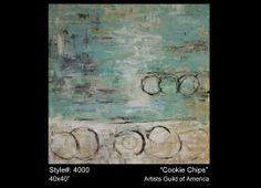 Aqua/Cream abstract