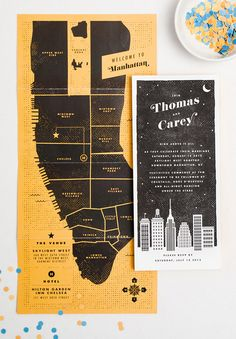 seriously cool wedding invites (maybe I would consider doing a landscape version of this if it were on the cape?)