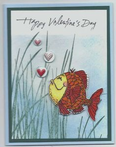 Fishy Friends Valentine by Karen2mire - Cards and Paper Crafts at Splitcoaststampers