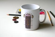221B Baker Street Mug Sherlock Holmes Mug by goodnightboutique