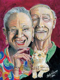 humorous art on canvas