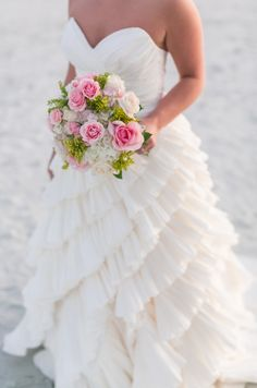 Gold + Blush Hilton Head Island Wedding | See more on SMP: http://www.StyleMePretty.com/south-carolina-weddings/hilton-head-island/2014/01/27/gold-blush-hilton-head-island-wedding/ Dana Cubbage Weddings