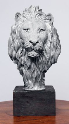 Lion Head by IgorGosling … statue Animal Statues, Animal Sculptures, Wood Carving Art, Stone Carving, Sculpture Head, Lion Sculpture, Lion Drawing, Lion Art, Animal Heads