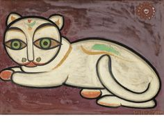 Bonhams Fine Art Auctioneers & Valuers: auctioneers of art, pictures, collectables and motor cars Bengali Art, Jamini Roy, Museum Art Gallery, Madhubani Art, India Art, Indian Artist, Horse Sculpture, Primitive Folk Art, Activity Sheets