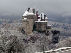 Vue du château de Menthon-Saint-Bernard, près d'Annecy, en Haute-Savoie, le 20 novembre. (Maxppp/PHOTOPQR/LE DAUPHINE LIBERE/Norbert FALCO)