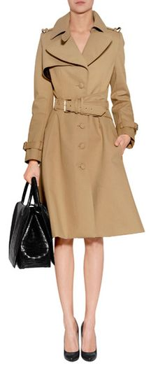 An exquisitely feminine take on this iconic style, Bouchra Jarrar's tailored trench is an immaculate choice for finishing your outfit #Stylebop