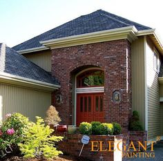 Exterior Paint colors that go with red brick #exteriorpaintcolours ...