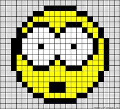 Smiley surprise perler bead pattern