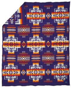Vintage Pendleton Beaver State Blanket Plateau Bag